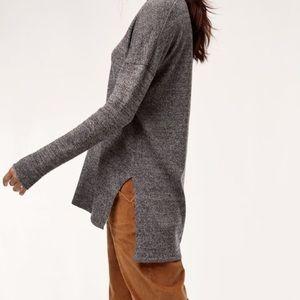Aritzia Babaton   Erin Sweater Marled Grey   S